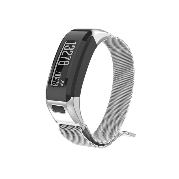 Mobile Mob Milanese Garmin Vivosmart HR Band Replacement Magnetic Lock Silver Steel