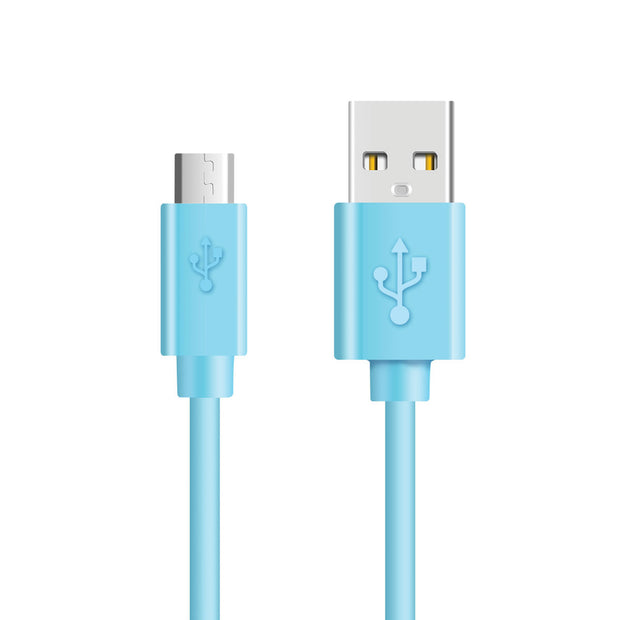 Mobile Mob 1.5m, 3m Micro USB Charger Cable For Samsung Galaxy / Note / Tab 1.5m / Blue / 1-Pack