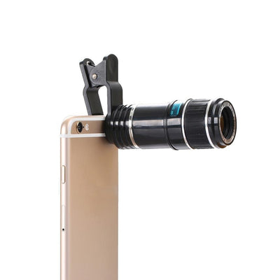 Mobile Mob 12X Zoom Optical Telescope Camera Lens For Apple iPhone 7 6 5 4 SE Plus Default