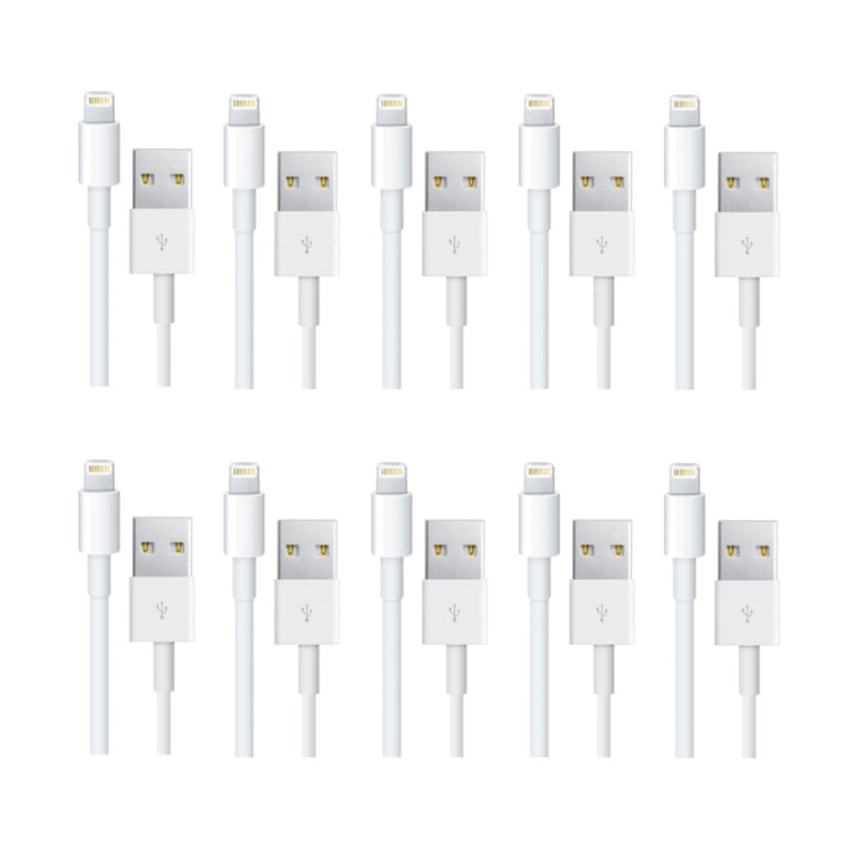 1m USB Lightning Replacement Charger Cable For Apple iPhone 5s 6 Plus iPad iPod 5 iOS8 10-Pack