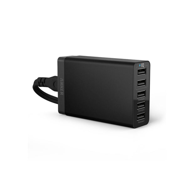 Mobile Mob Anker 25W 5A 5-Port PowerPort5 Lite USB Charger Black