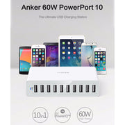 Anker 60W 12A 10-Port PowerPort 10 USB Charger