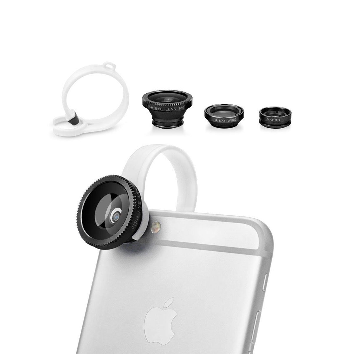 Wide Angle + Macro Camera Lens Kit For Apple iPhone 6 5 4 SE Plus