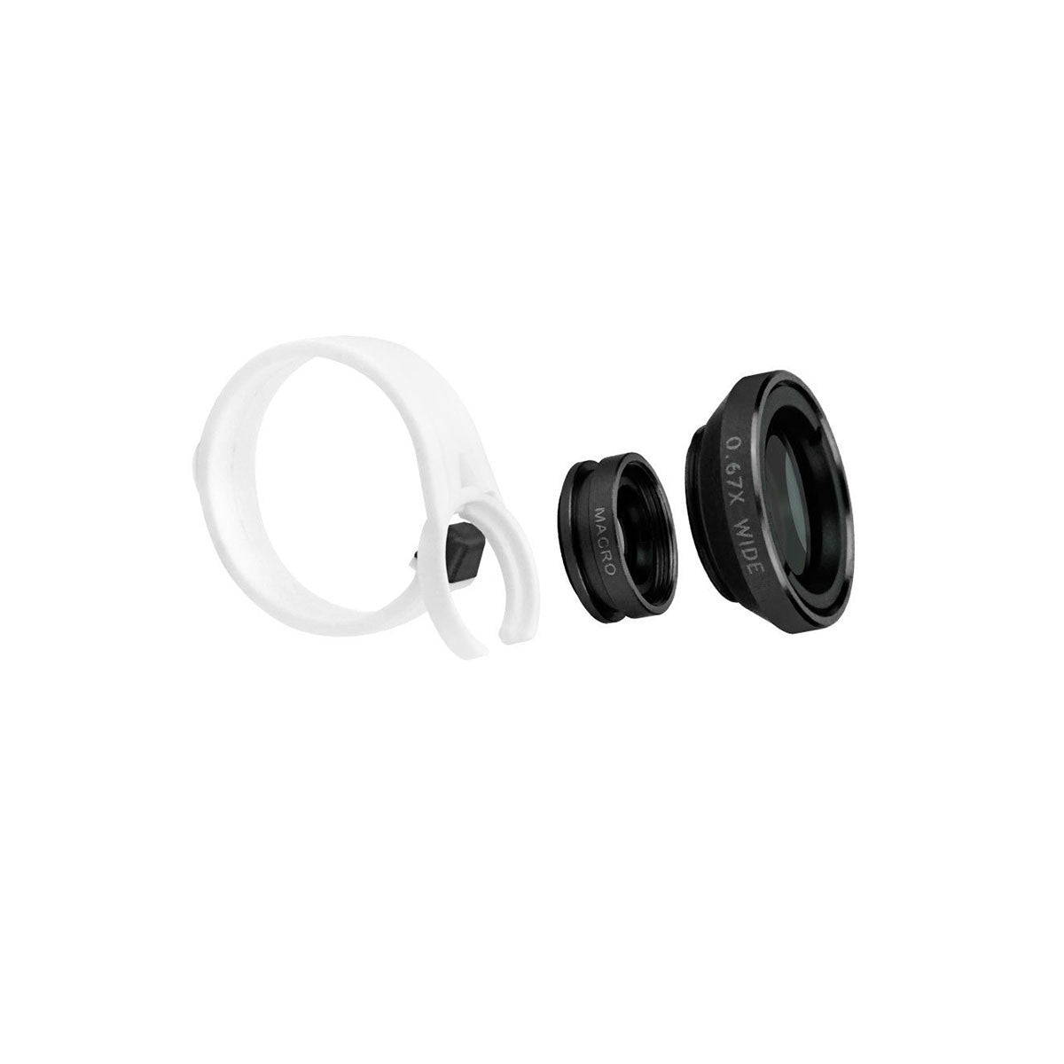 Wide Angle + Macro Camera Lens Kit For Apple iPhone 7 6 5 4 SE Plus