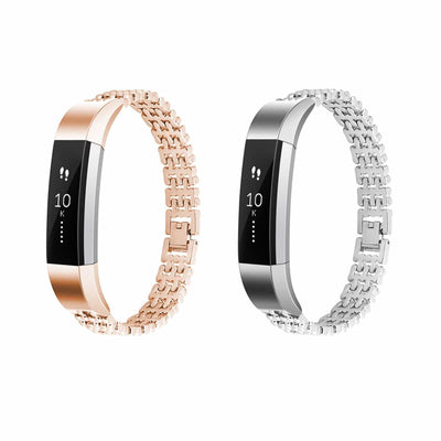 Mobile Mob Dots Designer Stainless Fitbit Alta & HR Replacement Band