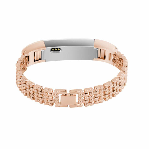 Mobile Mob Dots Designer Stainless Fitbit Alta & HR Replacement Band Rose Gold