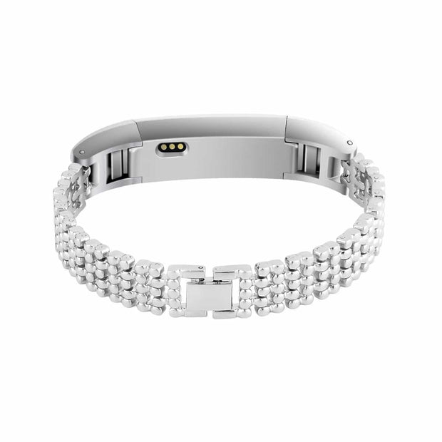 Mobile Mob Dots Designer Stainless Fitbit Alta & HR Replacement Band Silver Steel