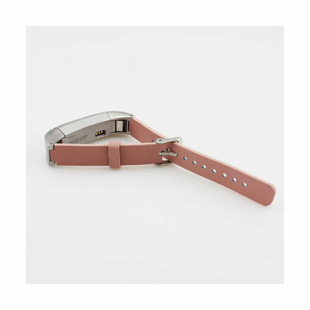 Mobile Mob Leather Fitbit Alta & HR Bands with Stainless Buckle Pink
