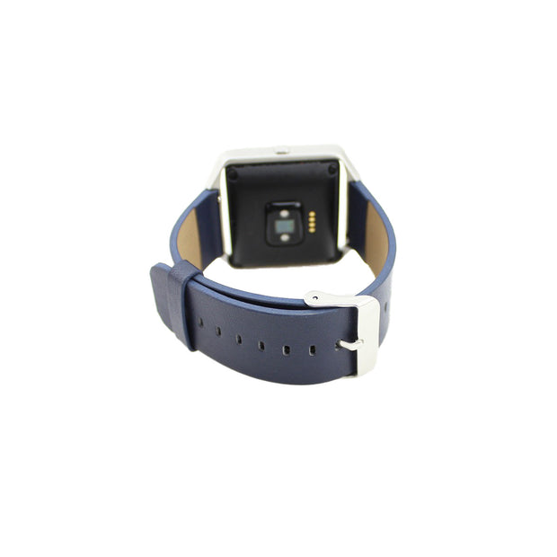 Mobile Mob Leather Fitbit Blaze Band Replacement Strap With Stainless Buckle