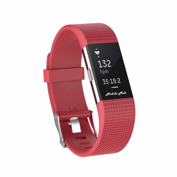 Mobile Mob Fitbit Charge 2 Bands Replacement Straps Small / Rose-Red