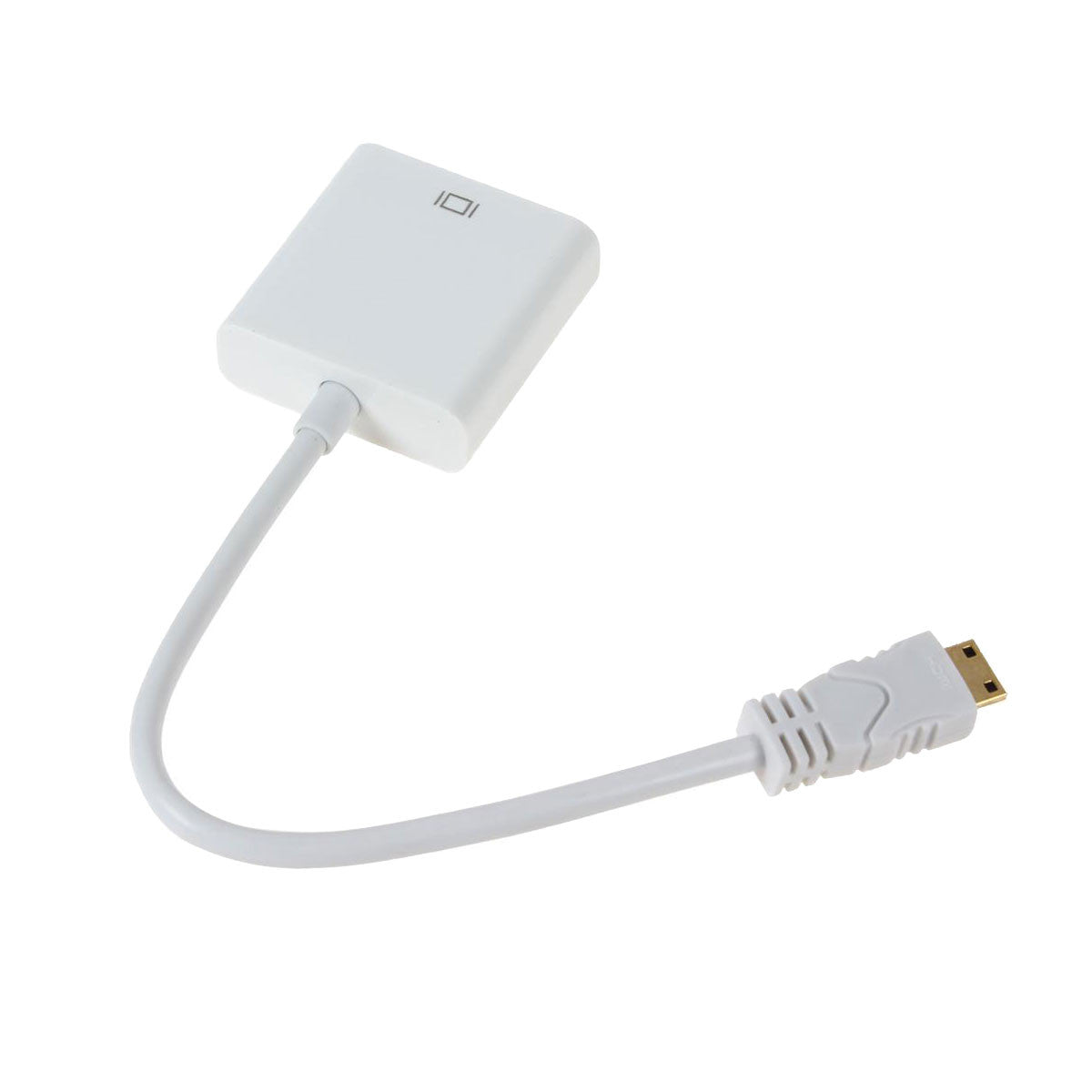 Mini HDMI to VGA Cable Adapter Front