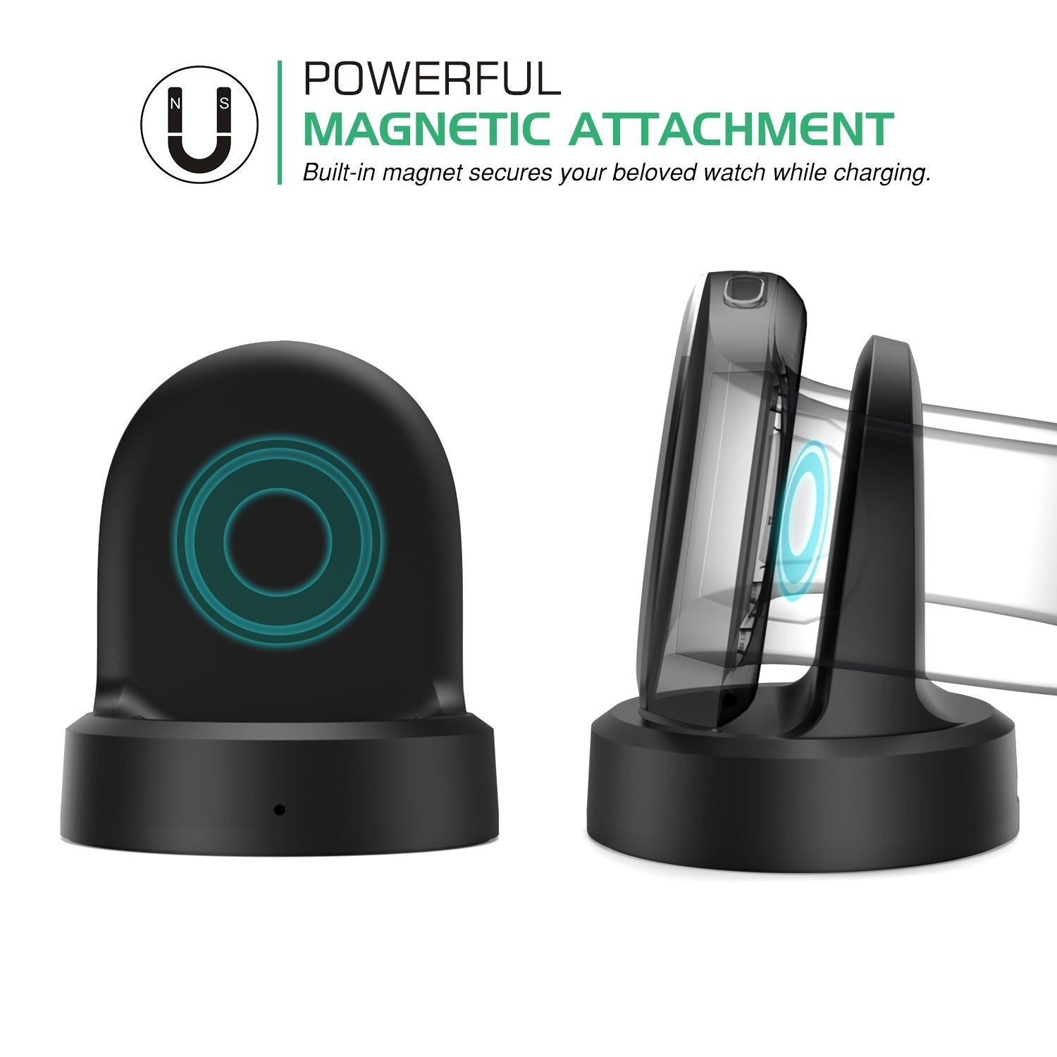 Qi Charging Cradle Dock For Samsung Gear S2 Watch SMR-720 SMR-730 SMR-732 Lock