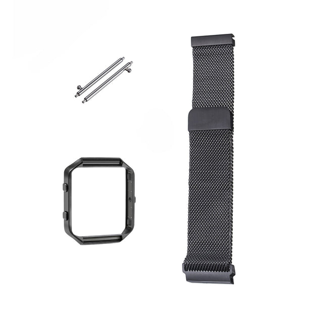 Mobile Mob Milanese Fitbit Blaze Band Replacement Magnetic Lock With Frame Black Night