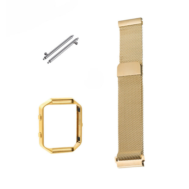 Mobile Mob Milanese Fitbit Blaze Band Replacement Magnetic Lock With Frame Gold Honour