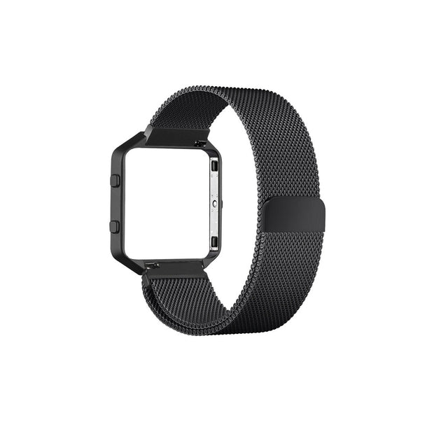 Milanese Fitbit Blaze Band Replacement Magnetic Lock With Frame