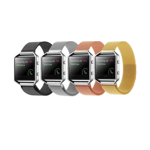 Magnetic Stainless Mesh Milanese StrapD Fitbit Blaze Bands
