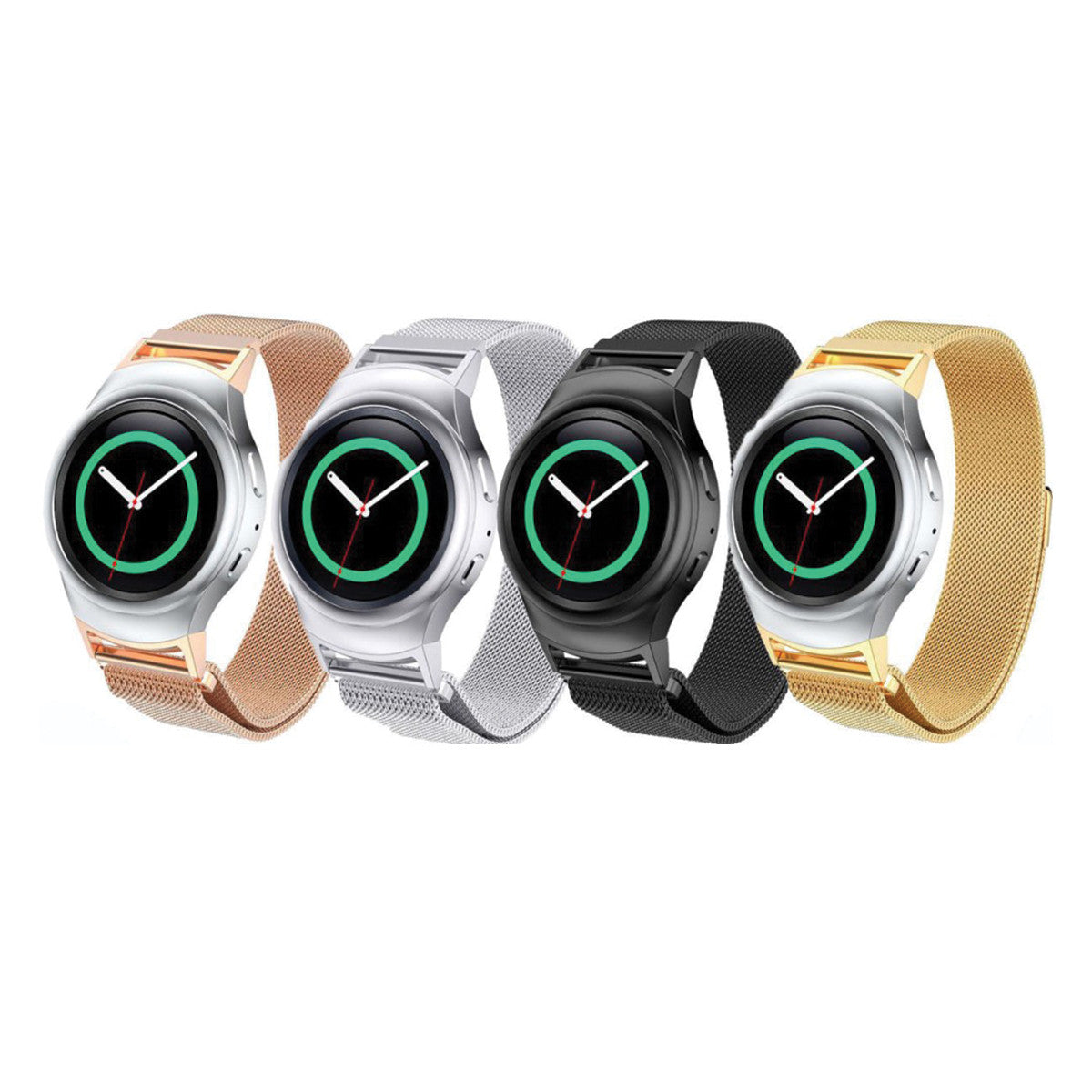 Magnetic Stainless Mesh Milanese StrapD Samsung Gear S2 Bands (SM-R720)