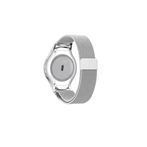 Mobile Mob Milanese Samsung Gear S2 Band Replacement Magnetic Lock SM-R720 Silver Steel