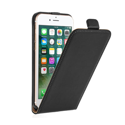 Mobile Mob Vertical Flip Genuine Leather Cover For Apple iPhone 5/6/7 & Plus Select