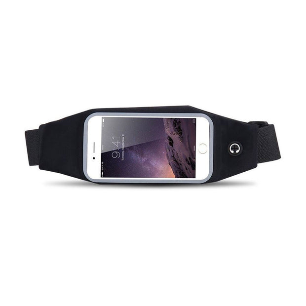 Mobile Mob Gym Running Belt Waist Band Pouch Bum Bag For Apple iPhone 8 7 6 6s Plus Stealth Black