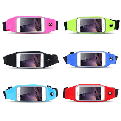 Mobile Mob Gym Running Waist Band Pouch Bum Bag For Apple iPhone 6 / 6s Plus