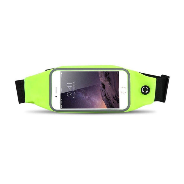 Mobile Mob Gym Running Training Waist Band Pouch Bum Bag Green