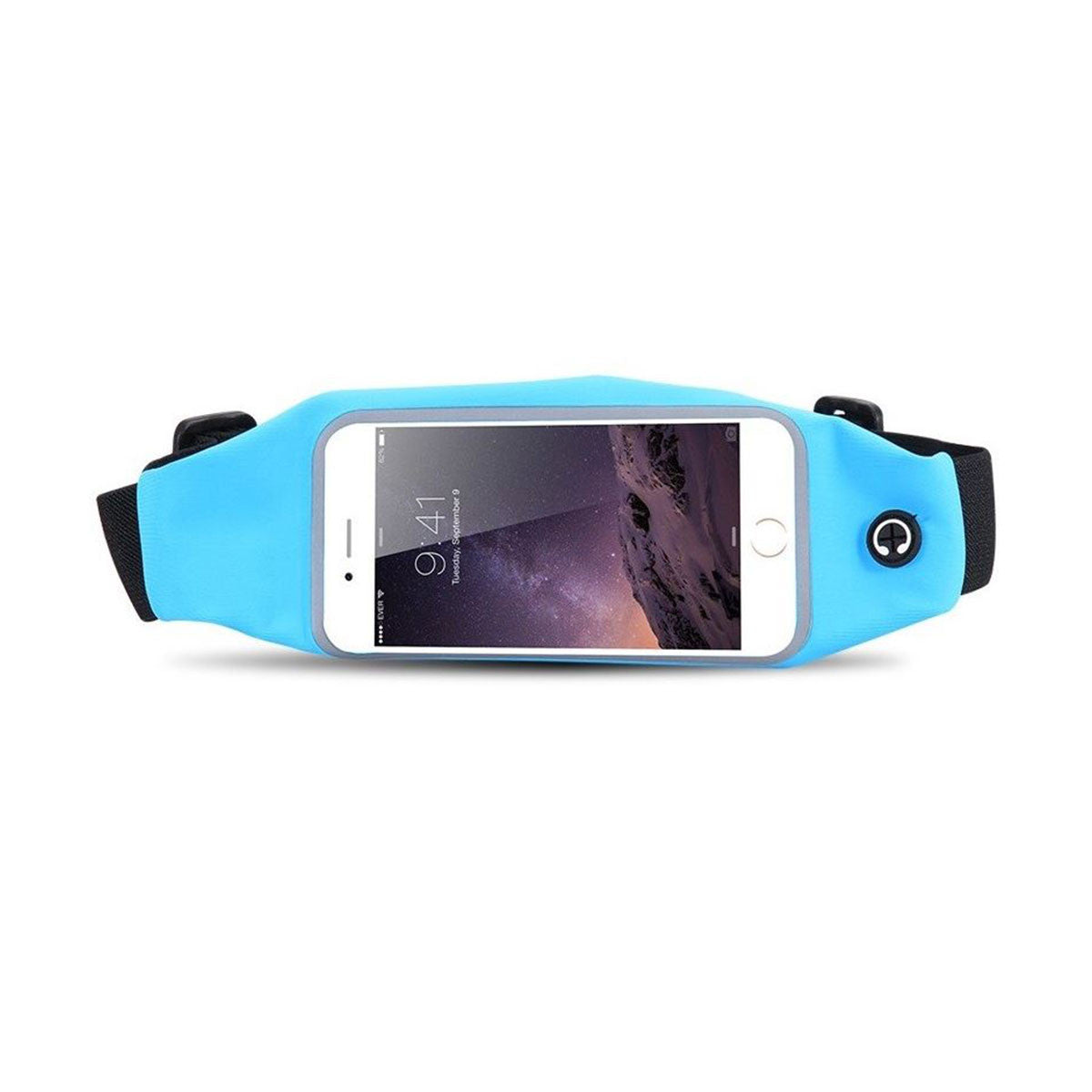 Mobile Mob Gym Running Training Waist Band Pouch Bum Bag Light Blue