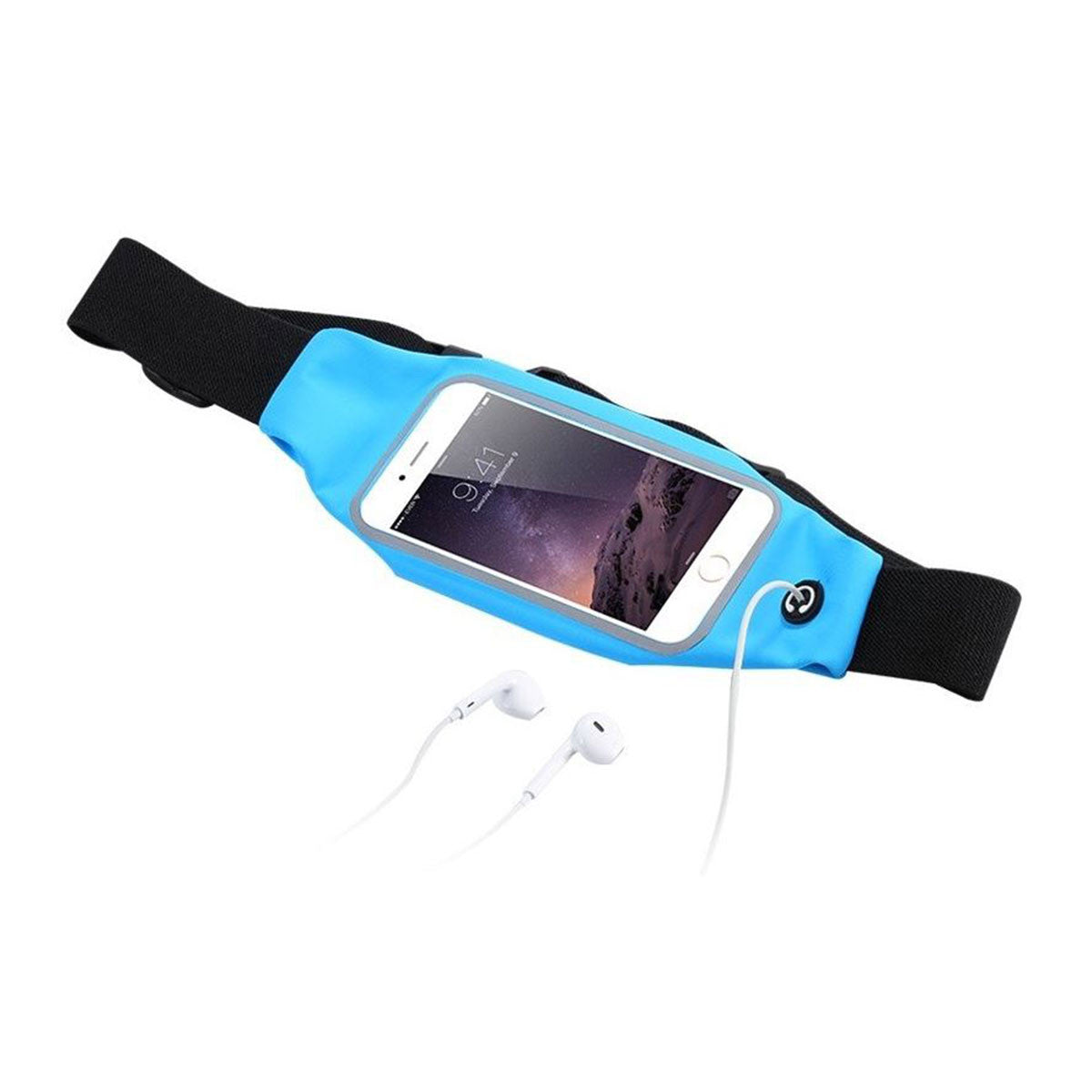 Mobile Mob Gym Running Training Waist Band Pouch Bum Bag Headphones