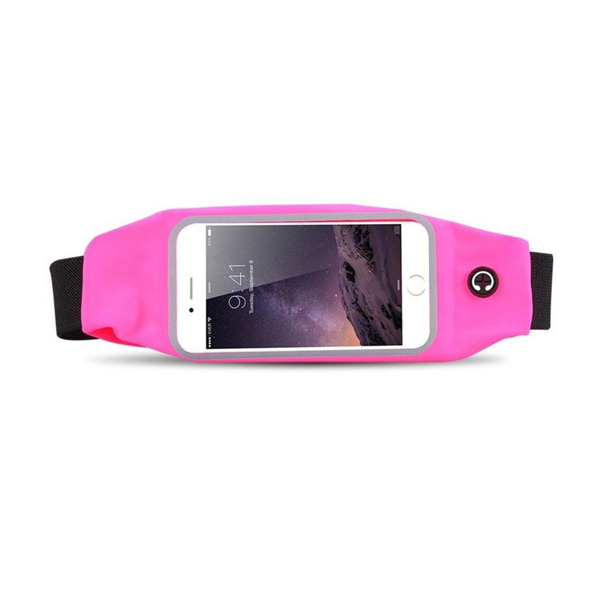 Mobile Mob Gym Running Training Waist Band Pouch Bum Bag Pink