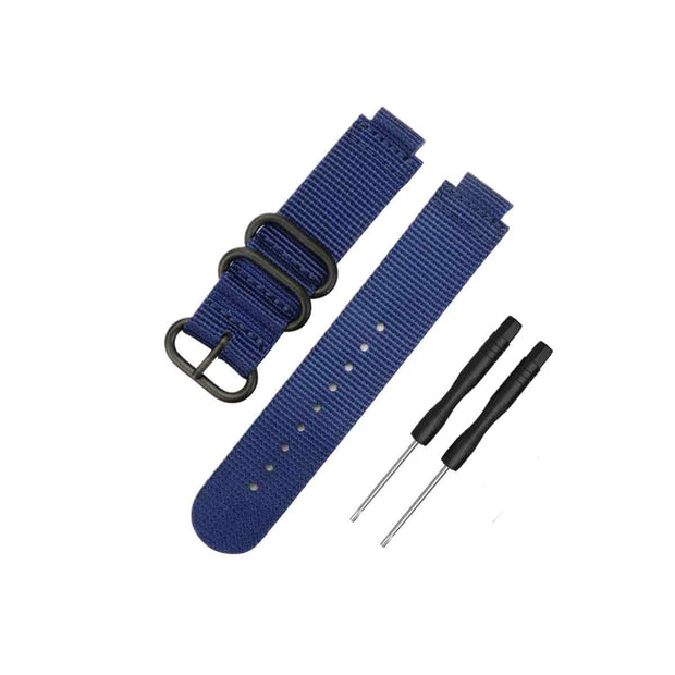 Mobile Mob NATO Garmin Forerunner 230/235/630/220/620/735 Replacement Bands Dark Blue