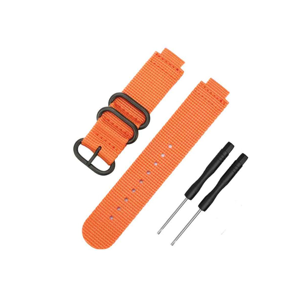 Mobile Mob NATO Garmin Forerunner 230/235/630/220/620/735 Replacement Bands Orange