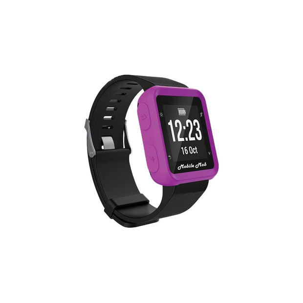 Mobile Mob Shockproof Garmin Forerunner 35 Protective Cover Case Purple