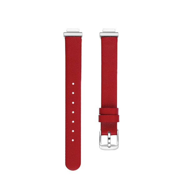 Leather Fitbit Inspire & HR Bands Replacement Strap Red