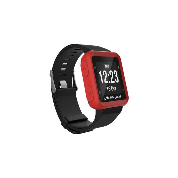 Mobile Mob Shockproof Garmin Forerunner 35 Protective Cover Case Red