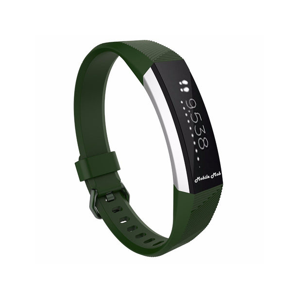 Mobile Mob Fitbit Ace Bands Replacement Straps with Buckle (Kids Size) Dark Green