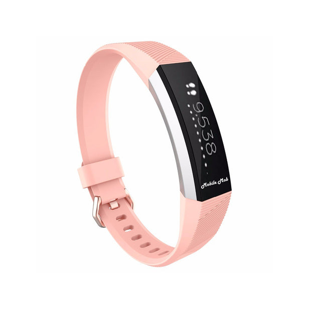 Mobile Mob Fitbit Ace Bands Replacement Straps with Buckle (Kids Size) Light Pink