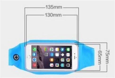 Gym Running Belt Waist Band Pouch Bum Bag For Apple iPhone 8 7 6 6s Plus