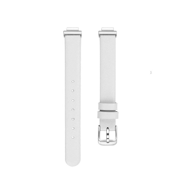 Leather Fitbit Inspire & HR Bands Replacement Strap White