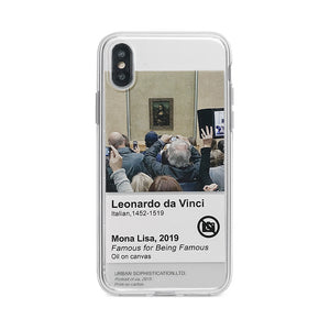 Mona Lisa iPhone Cases | Clear Silicon Cases | Painting - milkCases
