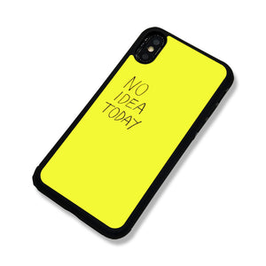 NO Idea Today iPhone Case - milkCases