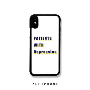 Patients with Depression iPhone Case - milkCases