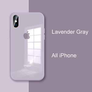 Lavender Gray iPhone Cases | Glass - milkCases