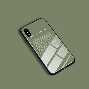 To Do List iPhone Cases | Glass - milkCases