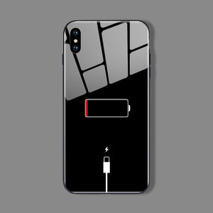 Battery Low iPhone Cases | Glass - milkCases