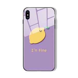Feels Fine Lemon iPhone Cases | Glass - milkCases