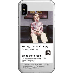 Today Not Happy iPhone Cases | Silicon Cases | Painting - milkCases