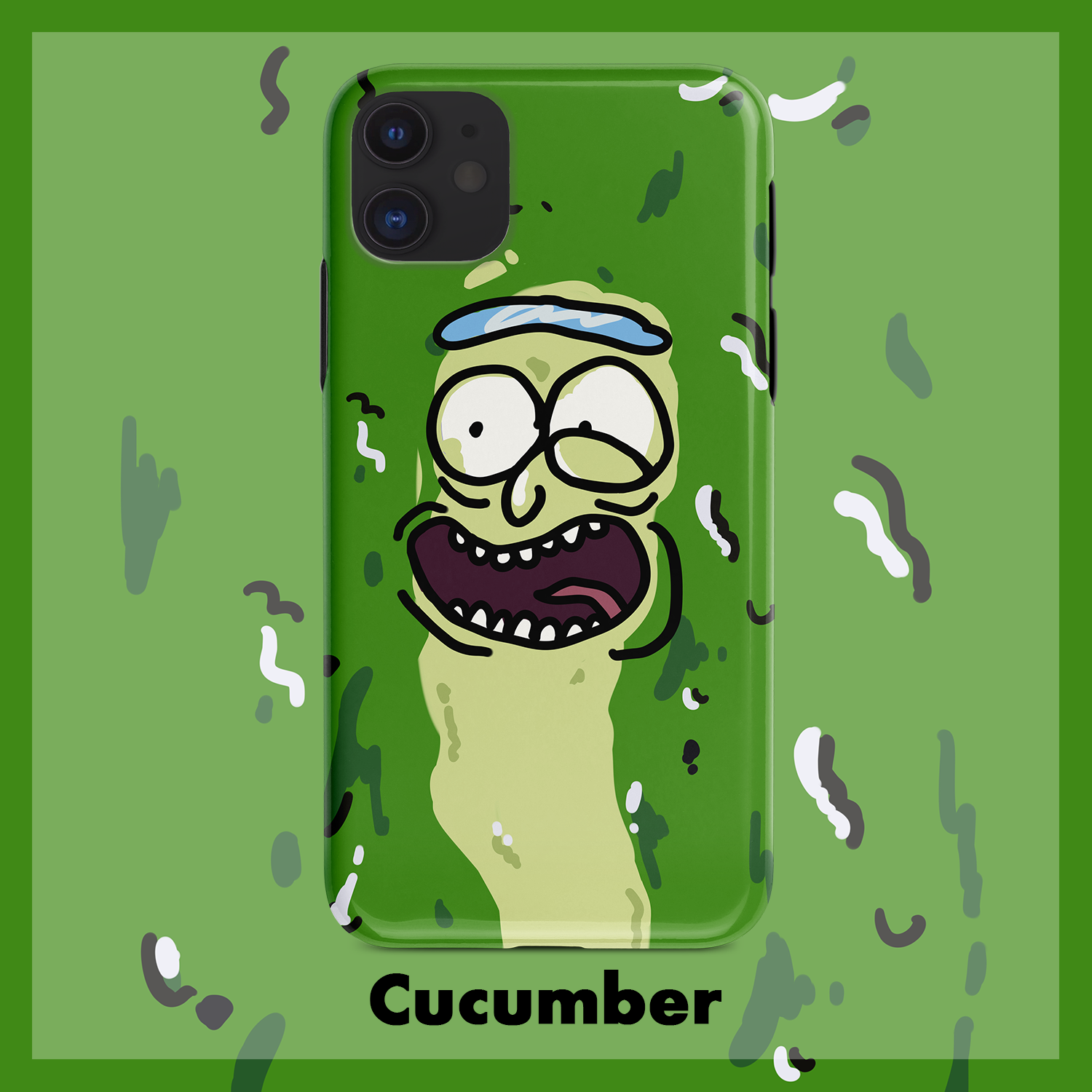 Pickle Rick iPhone Cases