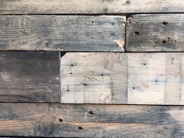 Sample Reclaimed Wall Cladding- Pallet Wood