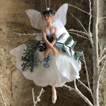 Load image into Gallery viewer, Eucalyptus Resin/Fabric Fairy Dec,