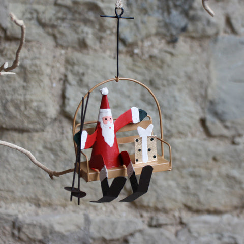 Chair Lift Santa